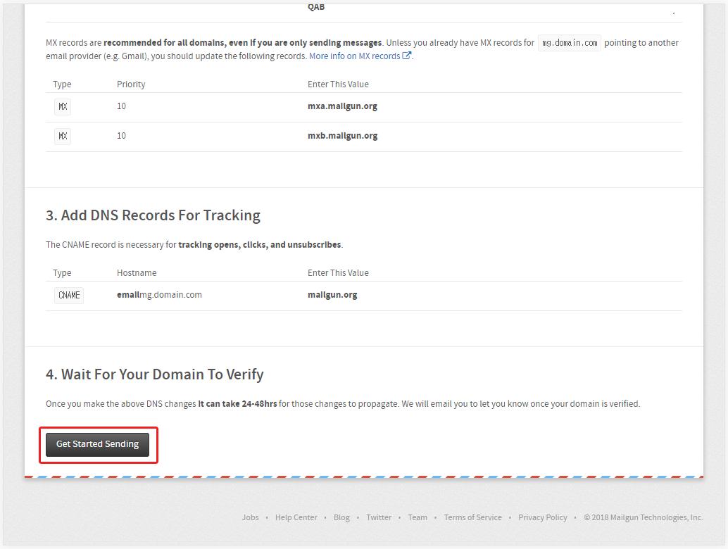 도메인 등록 후안내에 따라서 DNS(도메인 네임 시스템)에 정보를 등록해주세요.