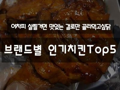브랜드별 인기치킨 TOP5