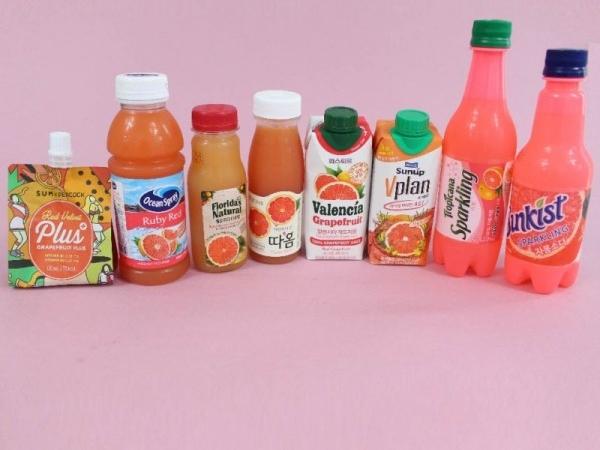 비타민C의 대명사! 자몽 음료 제품 8종 모음