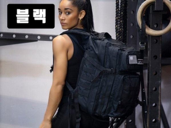 [띵킹클립] LOVECCA 헬스 여행용 운동 밀리터리 대용량 백팩