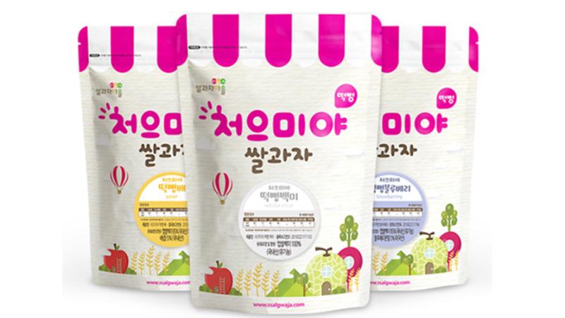 [배송] 처으미야 쌀과자마을10 3(엄마과자포함) 처으미야떡뻥 쌀과자 3종 이미지